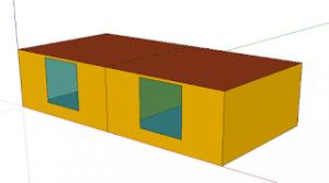 TRNSYS3Dを使ってみる、その3(間仕切り壁を作る)