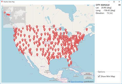Weather Data Map 北米対応版、只今作成中
