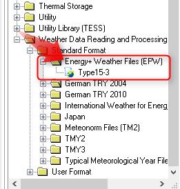 拡張アメダス、EPW形式をTRNSYSで使う